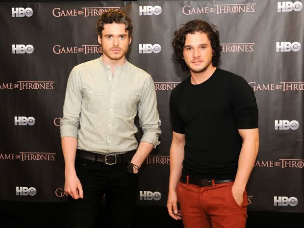 Game of Thrones eye candy. Richard Madden and Kit Harrington