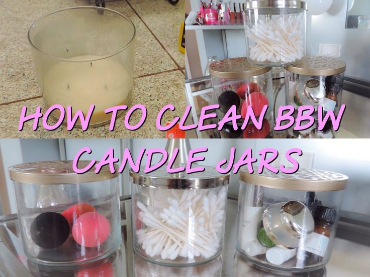how to clean the candle jar