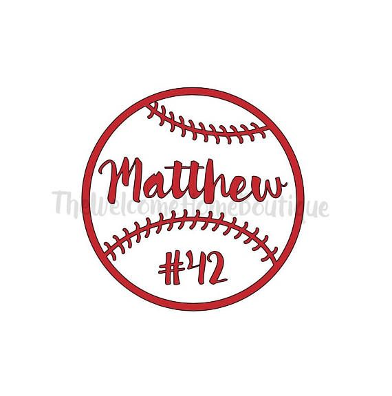 Waterbottle Decal Chromebook Decal Baseball Decal Personalized Baseball Decal
