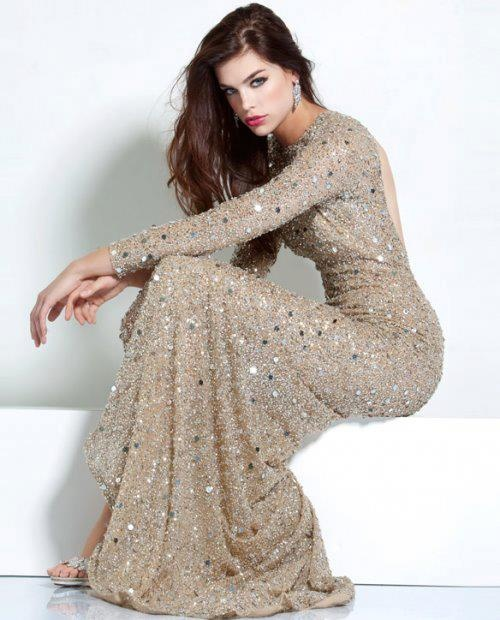 Long sleeve evening gown- GORGEOUS! Wish I was fancy enough to actually have some place to actually wear something like this lol