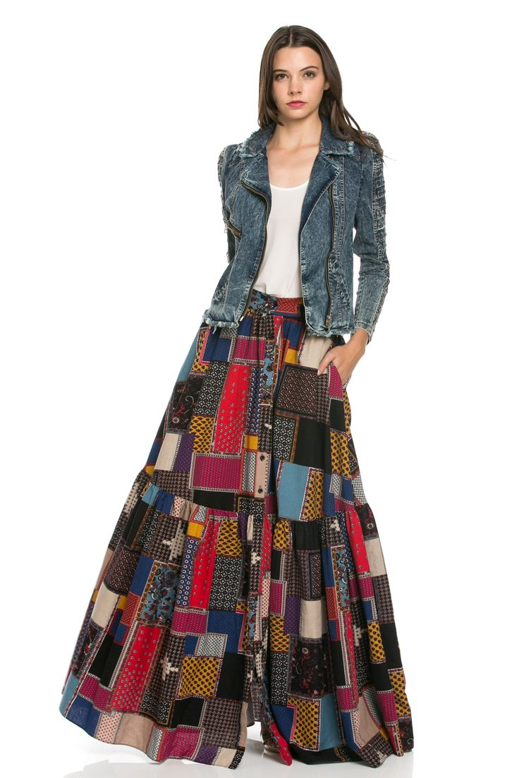 Long dress in india quilt