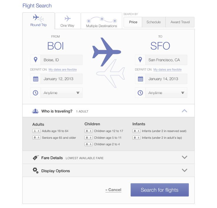 flight search results page ui - Google Search