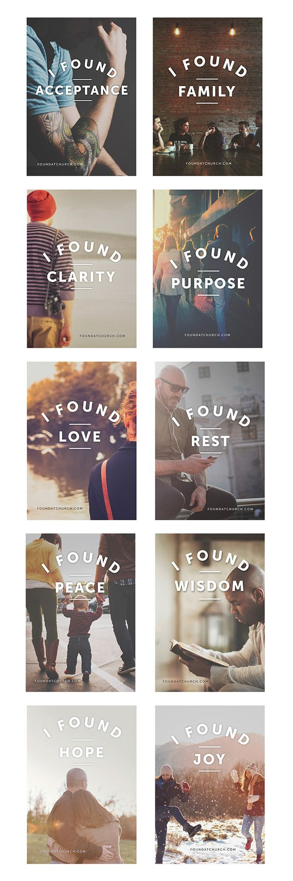 External marketing campaign using a range of 10 ads focused on public transportation. Using the #foundatchurch to point people to a website, foundatchurch.com, with content generated by attenders social media engagement with #foundatchurch.