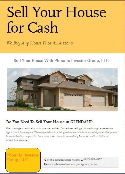 Sell Your House Fast in Arizona. Get A Fair Offer No Fees No Commissions. Hurry Call us now 602-833-7812.