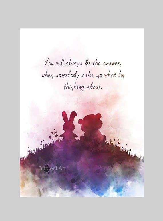 Love Quote Art Print Illustration Inspirational Friend