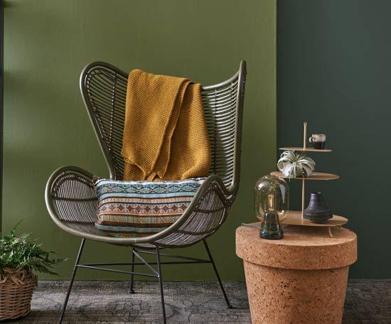 Kleurentrend: Jungle vibes - De trend van groen in huis in de vorm van planten en grote bladeren op het behang is nog lang niet voorbij.