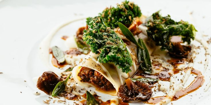 This stunning venison cannelloni recipe is a wintry sight to behold. Paul Welburn playfully evokes the flavours of a traditional cannelloni with a rich Parmesan sauce, while the intense braised venison is flavoured with juniper for a heady flavour.