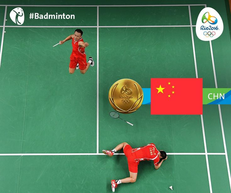 Rio 2016 ‏@Rio2016_en  36m36 minutes ago Rio de Janeiro, Brazil #Badminton #Gold for Fu Haifeng/Zhang Nan #CHN in Men's Doubles! Came down to the very last point against #MAS!