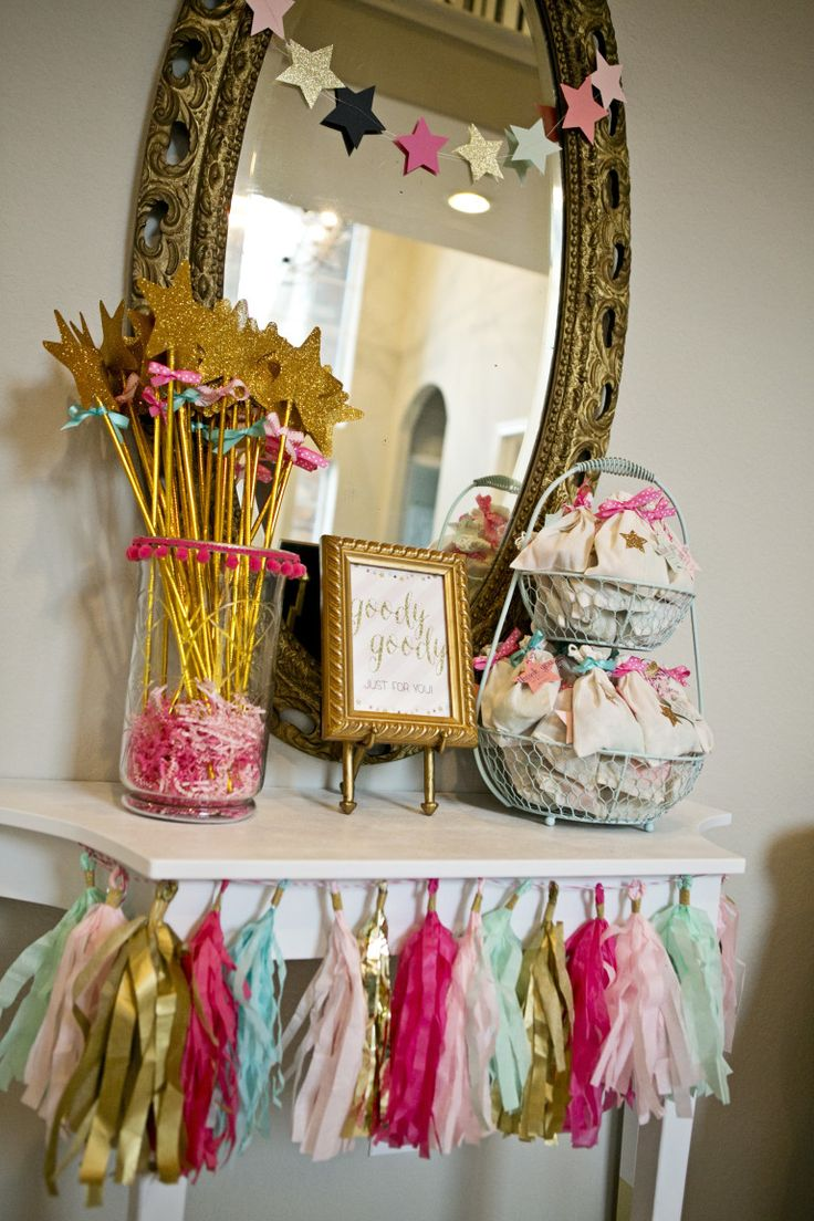 Adorable Party Favors Table at a Twinkle, Twinkle Little Star themed Party