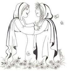 7 best Mary Visited Elizabeth Bible Activities images on
