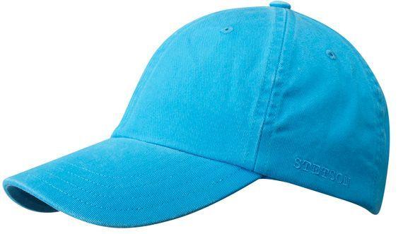 Stetson Rector - světle modrá bavlněná letní baseballová čepice