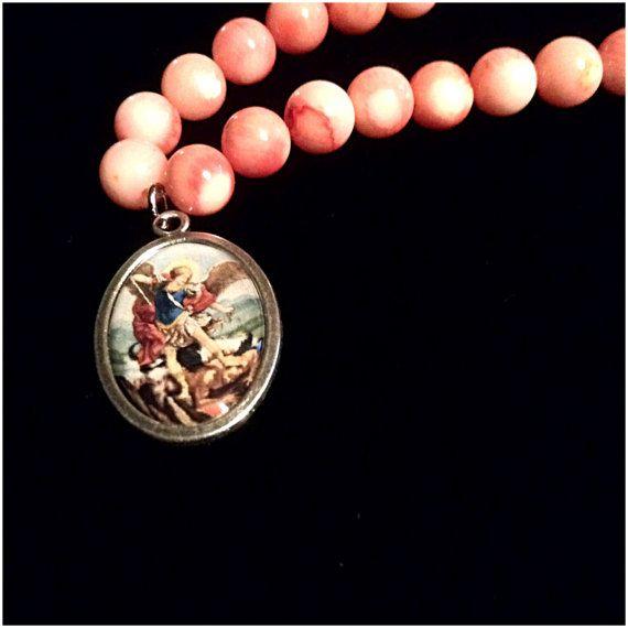 Archangel Michael Protect Us Bracelet by atelierJADELZODOR on Etsy
