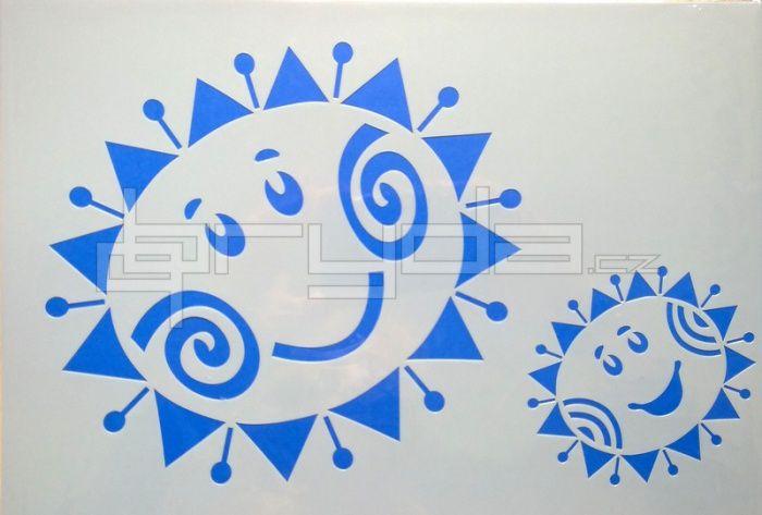 Výsledek obrázku pro šablona sluníčko