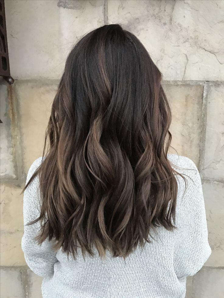 Dimensional Brunette. Baby highlights. Balayage. Ombré. Dark brown to light brown. Chocolate brown. Blunt cut. 2017 hair trends. Fort Collins hair. Salon Salon. Ashley Nichole Hair.