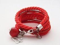 Podwójna bransoletka czerwona
