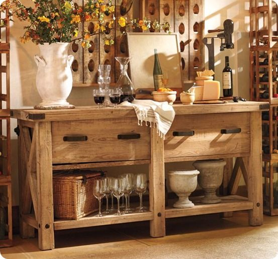 *Idea for an Outdoor Buffet Table (definitely need something smaller)...