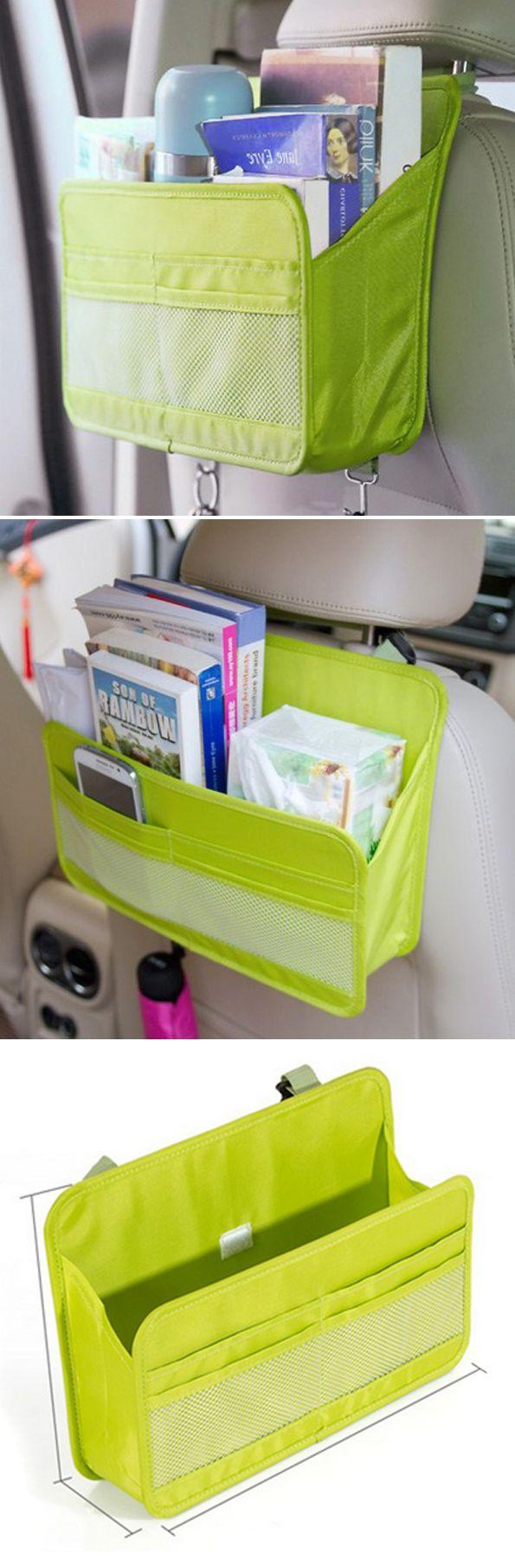 US$5.99 Waterproof Car Storage Box Hanging Organizer Moving Box Oxford Card Holder Storage Container