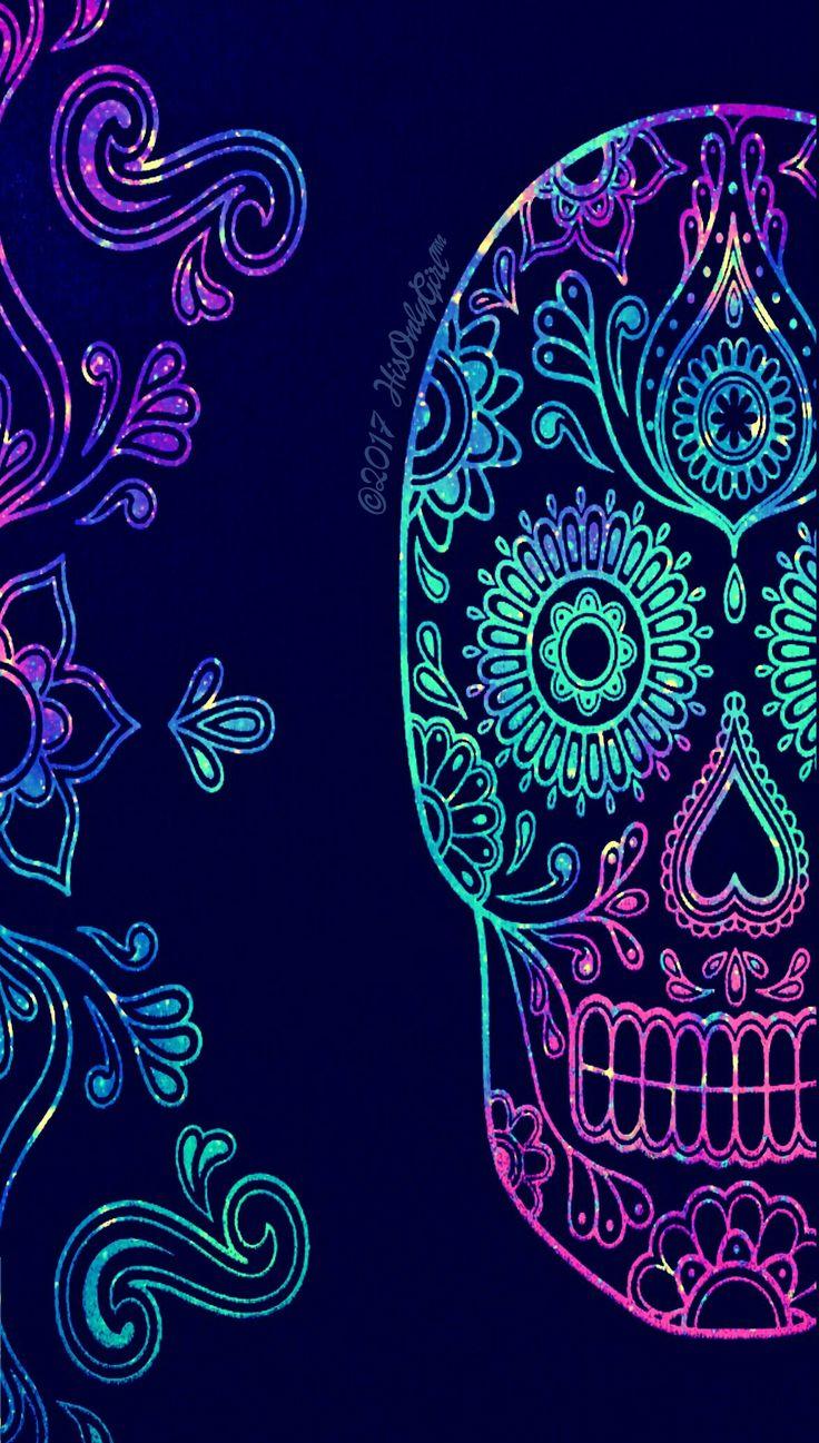 Dark tribal galaxy skull wallpaper I created for the app CocoPPa!