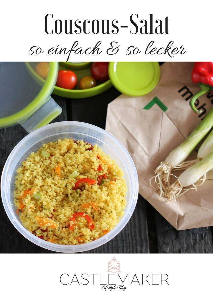 Dieser leckere vegane Couscous-Salat kann als Beilage oder solo gegessen werden und ist ideal für die schnelle Küche. Das einfache Rezept ist auf meinem Blog, auch ideal als Grillbeilage. couscous rezept vegetarisch
