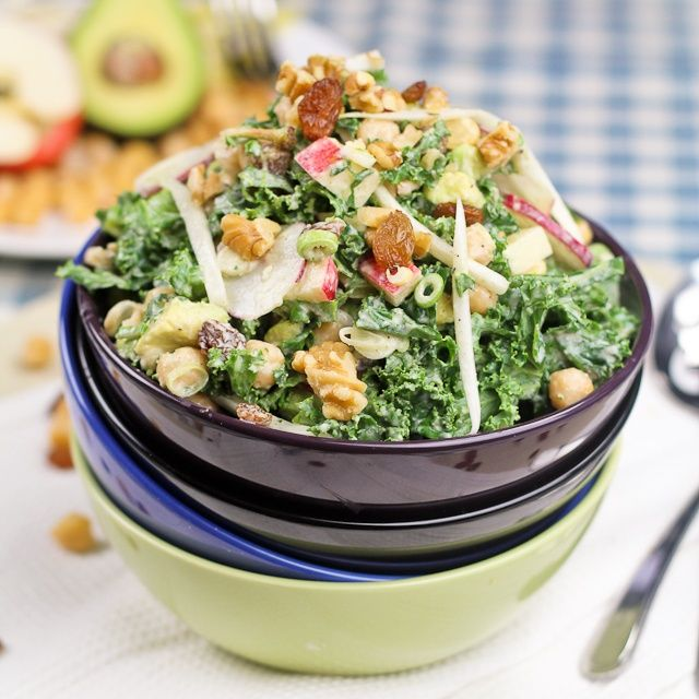 I'm always looking for new ways to eat kale, since we eat so much of it. Will have to try this Kale, Chickpea and Apple salad soon!