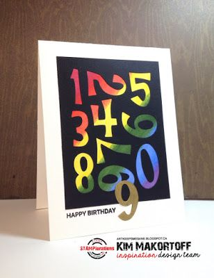 Card by Kim featuring the CUTplorations Numbers plate thin metal die