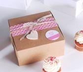 <p>Caja de cupcakes americana, la clásica.</p>