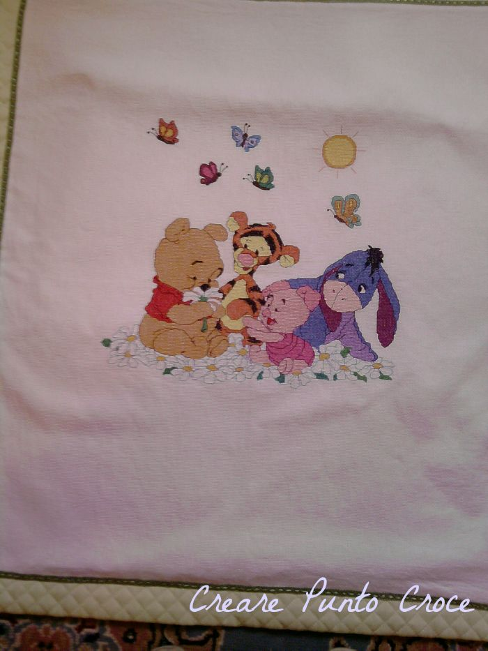 1000 images about baby blanket cross stitch copertine for Punto croce disney winnie the pooh