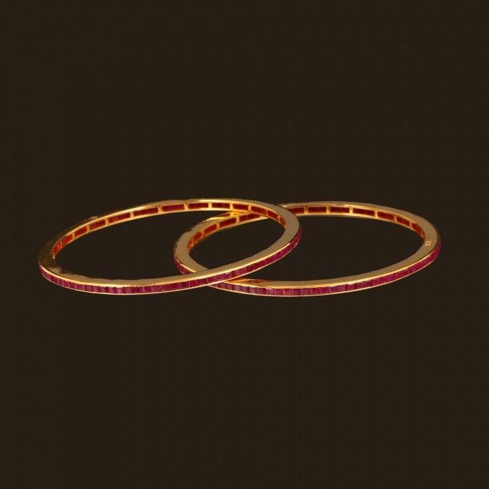 Ruby Shiny Bangles 101a1596 Vummidi Bangaru Jewellers