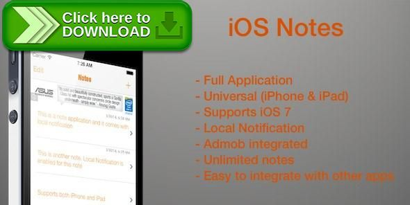 [ThemeForest]Free nulled download iOS Notes with Reminder from http://zippyfile.download/f.php?id=46589 Tags: ecommerce, admob, full application, ios, ipad, iphone, local notification, notes, notification, remind, reminder, template, universal