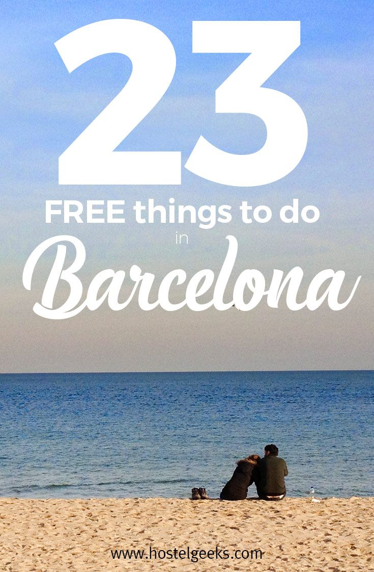 Come on, who doesn't love free things? Lucky for you, lucky for us: There are plenty of Free Things to Do in Barcelona.  We live in Barcelona for too long to count now. And over the time we  discovered so many free things, we simply have to share them with you. Check them out at https://hostelgeeks.com/free-things-to-do-in-barcelona/ (scheduled via http://www.tailwindapp.com?utm_source=pinterest&utm_medium=twpin)
