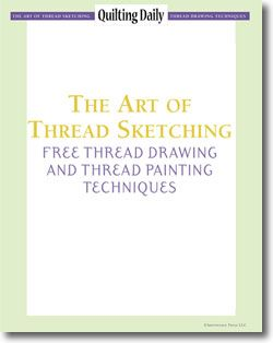 Download your 4 free thread drawing and thread painting techniques.