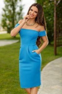 Rochie albastra de zi