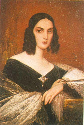 Retrato de Carmen Alcalde Velazco de Cazatte, 1843 Oleo sobre Tela 94 x 68 cm Museo Nacional de Bellas Artes