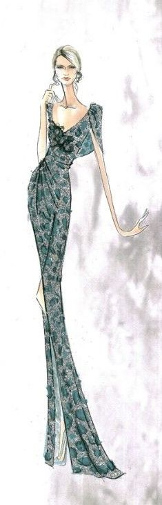 Elie Saab Fashion Illustration