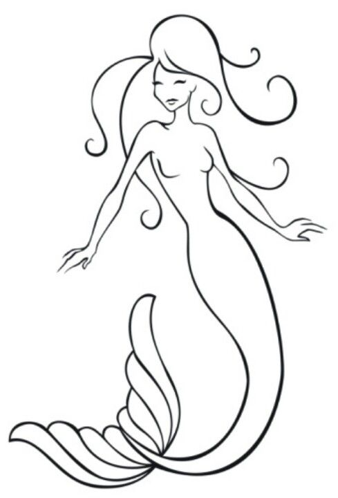 Mermaid Tattoo Line Drawing : Best clipart free images on pinterest tribal prints