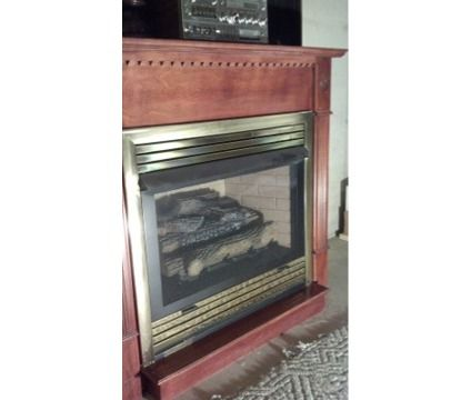 Ventless Propane Fireplace with Mantle | Ventless propane fireplace. $500 cash only is a Furniture for Sale in ...