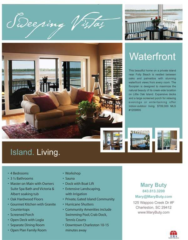 Best 25 real estate flyers ideas on pinterest real estate flyer our firm developed this realtor flyer for charleston realtor to use when marketing a luxury waterfront home for sale pronofoot35fo Choice Image