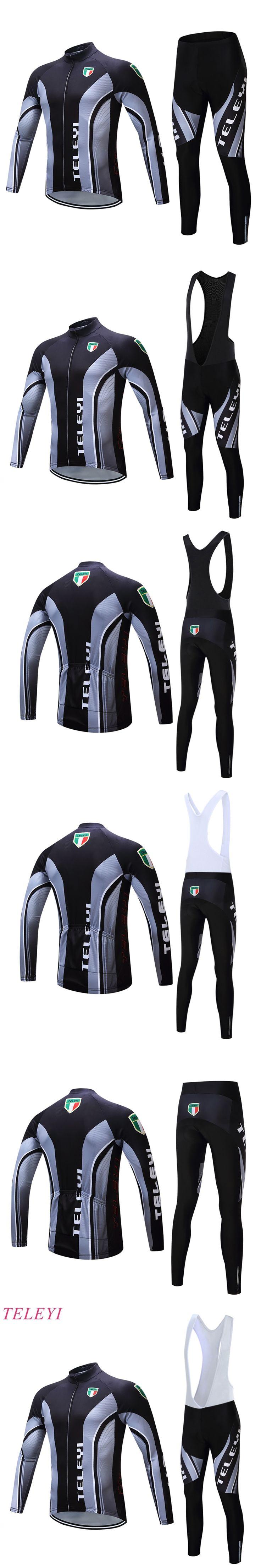 2016 Hot Sale Men's Sportswear Spring Autumn Pro Cycling Clothing Ciclismo Motocross Bike Jersey Long Sleeve Mtb Shirt +Gel Pad
