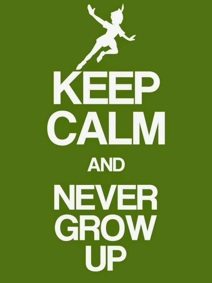 Peter Pan Keep Calm Free Printable Sign.