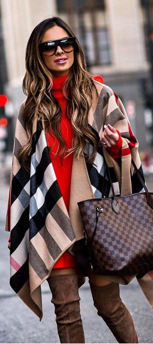 #winter #outfits  Louis Vuitton damier ebene neverfull tote bag. Pic by @rome_fashion_style.