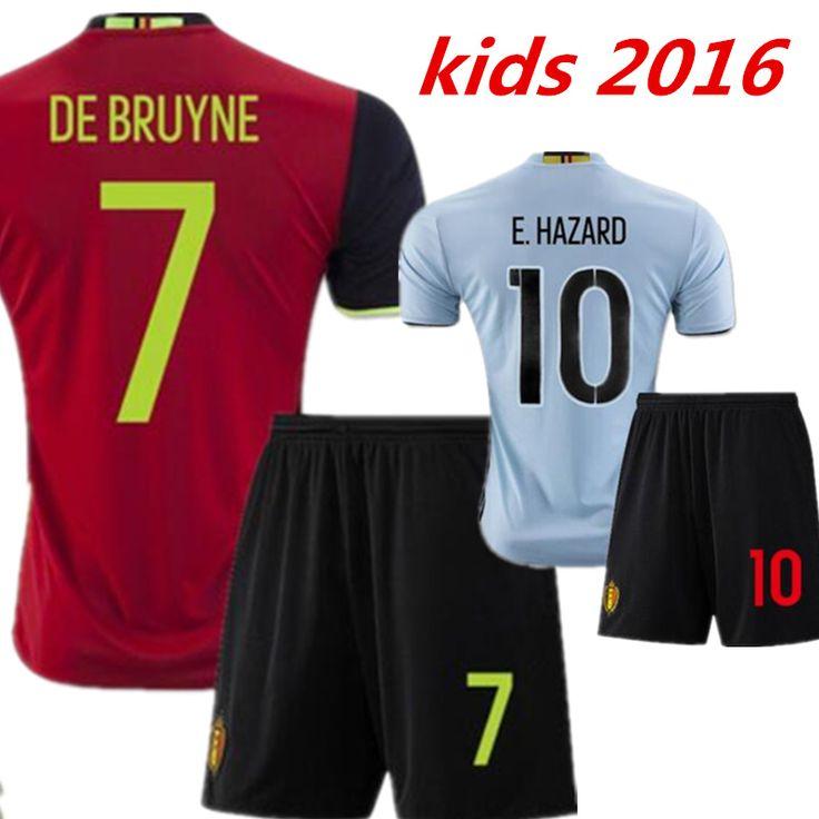 $16.90 (Buy here: https://alitems.com/g/1e8d114494ebda23ff8b16525dc3e8/?i=5&ulp=https%3A%2F%2Fwww.aliexpress.com%2Fitem%2F2016-2017-Belgium-kids-Soccer-jersey-kits-E-HAZARD-DE-BRUYNE-KOMPANY-VERMARLEN-LUKAKU-Children-football%2F32738320230.html ) 2016 2017 Belgium kids Soccer jersey kits E. HAZARD DE BRUYNE KOMPANY VERMARLEN LUKAKU Children football shirt for just $16.90