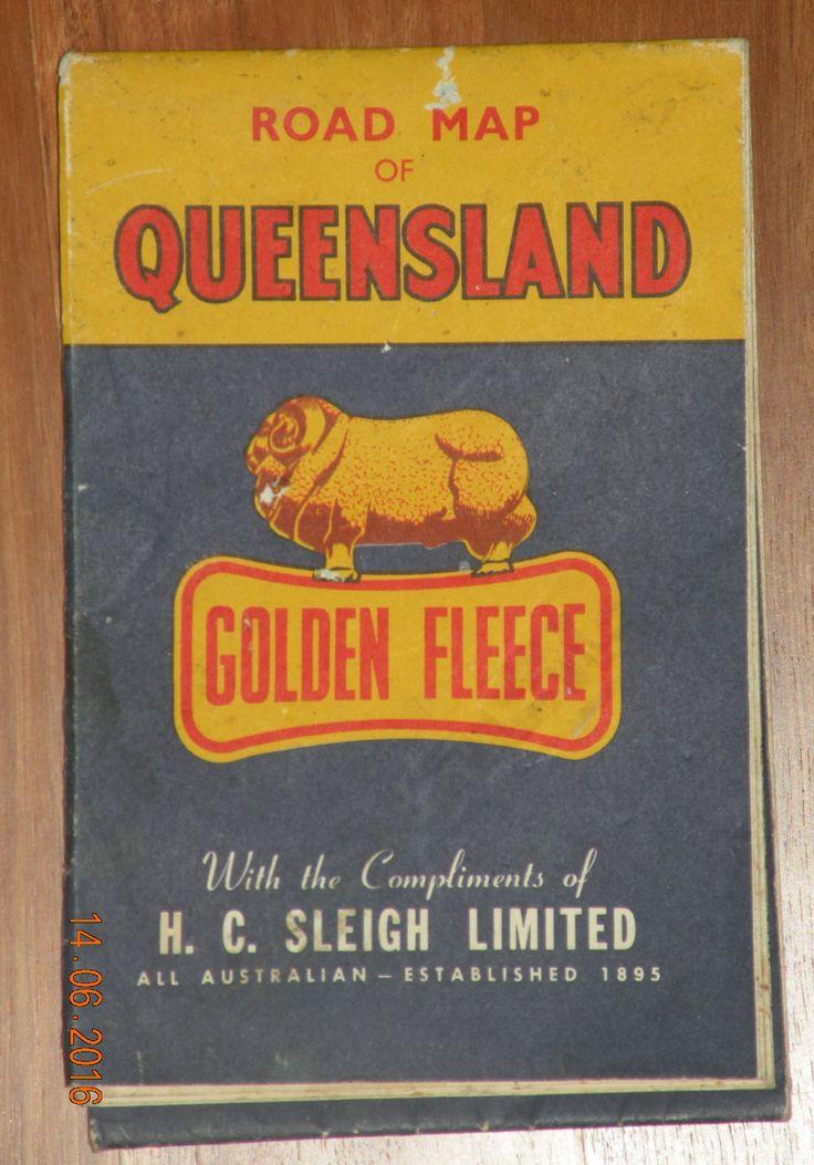Golden Fleece road map Queensland Australia The