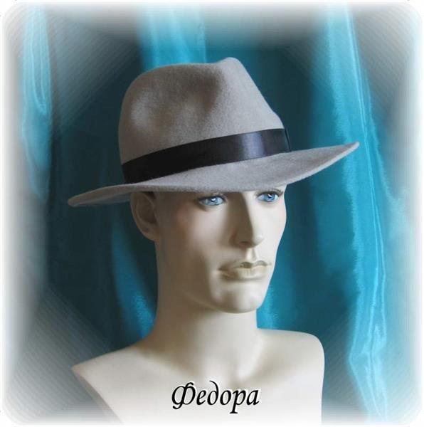 Мужская фетровая шляпа федора купить