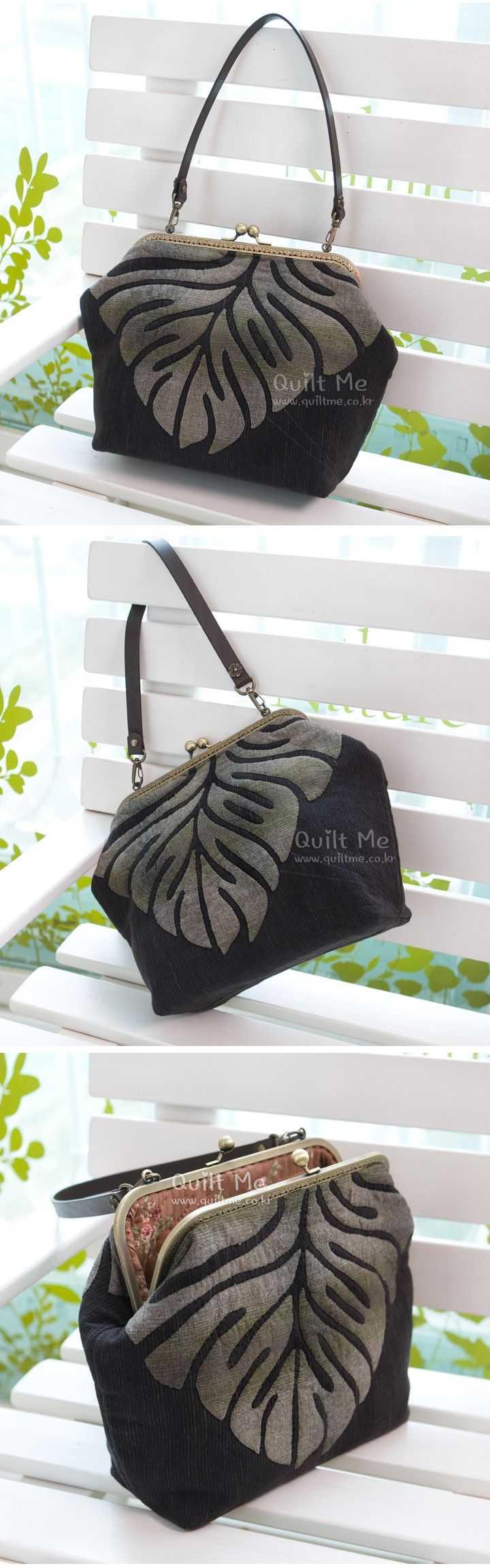 Lovely applique bag! Japanese quilter