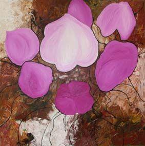 """""""Appelbloesem"""" schilderij gemengde techniek. Voor info zie www.liiv.nl"""