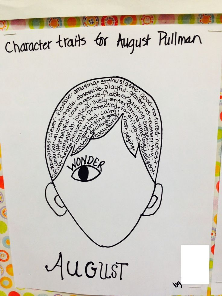 Wonder, by R.J. Palacio Character Study: August