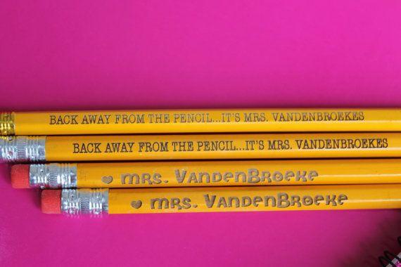 Set of 12 Teacher Pencils  Personalized Pencils by stampoutonline, $13.00