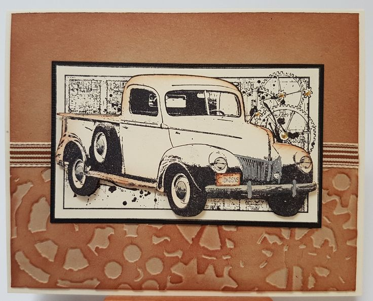 Old Ute F13461 by Impression Obsession. Card by Susan of Art Attic Studio.