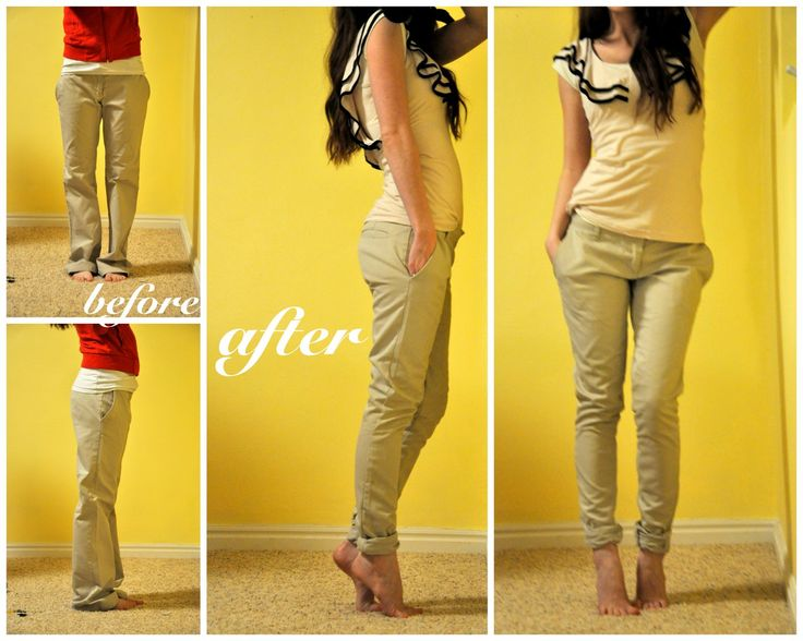 C: Tailoring your trousers! This girl is so cute and has tons of great sewing tips.  I have a ton of clothes that are too big!