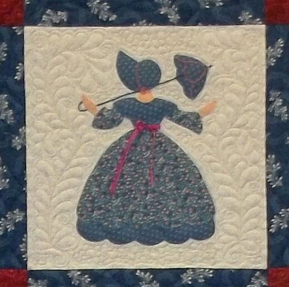 Sunbonnet Sue Southern Belle Quilt by PrairieCottageCorner